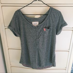 Abercrombie Grey Pocket Tee